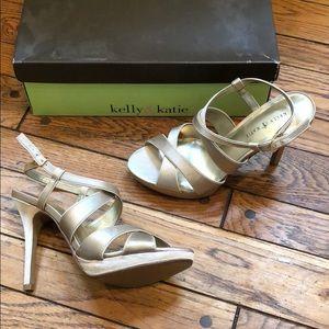 Kelly & Katie gold heels